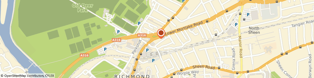 Route/map/directions to T H Sanders & Sons Funeral Directors, TW9 2NA Richmond, 28/30 Kew Road