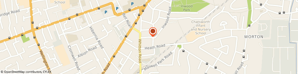 Route/map/directions to Ashdowne House, TW3 1YW Hounslow, 9 POWNALL GARDENS