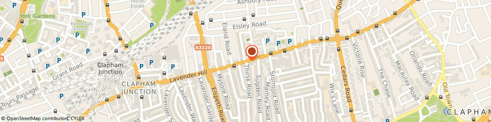 Route/map/directions to Sporting Elite, SW11 5QJ London, 151 LAVENDER HILL