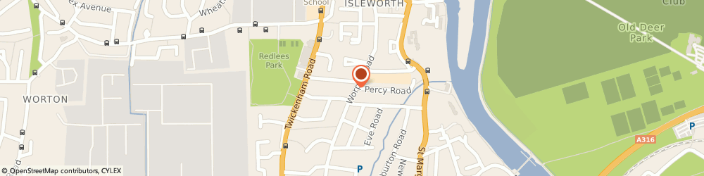 Route/map/directions to Wordsworth Transport, TW7 7AS Isleworth, 87 Worple Road