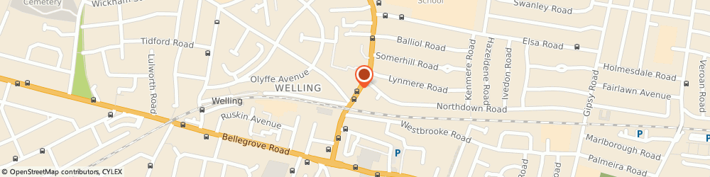 Route/map/directions to Starshine Dry Cleaners, DA16 3HQ Welling, 66-68 Upper Wickham Lane