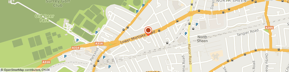 Route/map/directions to Nutrition Check, TW9 2JY Richmond, 72 LOWER MORTLAKE ROAD
