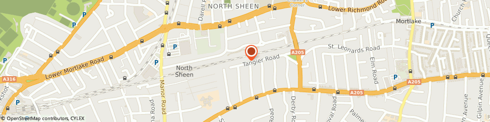 Route/map/directions to The Showreel Limited, TW10 5DN Richmond, 52 TANGIER ROAD