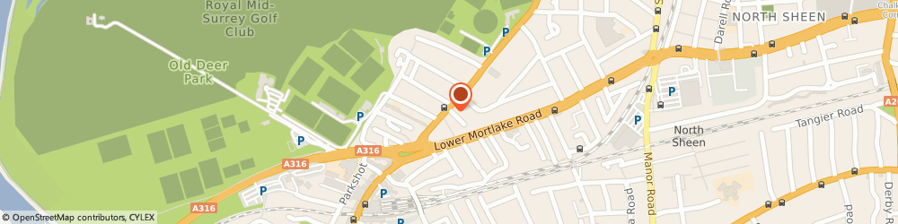 Route/map/directions to Pomegranate Restaurant, TW9 2PQ Richmond, 94 KEW ROAD
