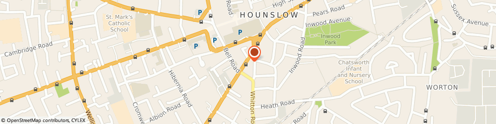 Route/map/directions to Air Minicab Services, TW3 3TR Hounslow, 162 Hanworth Road
