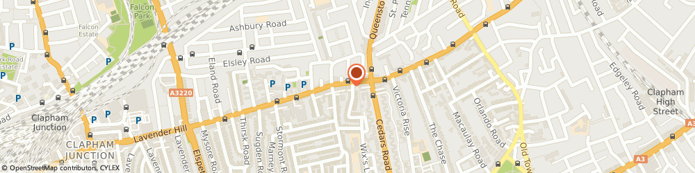Route/map/directions to Hill Launderette, SW11 5QW London, 41 Lavender Hill