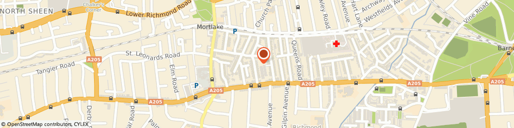 Route/map/directions to Sloppy Joe Essential Clothing, SW14 8NX London, 28 Portman Ave
