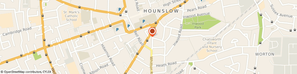 Route/map/directions to LONDON TRADING CORPORATION LIMITED, TW3 3TT Hounslow, Hanworth Road
