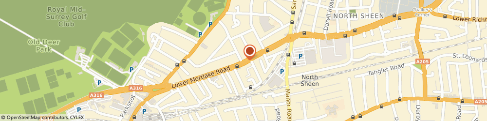 Route/map/directions to Richmond Pharmacy, TW9 2LN Richmond, 213, LOWER MORTLAKE ROAD