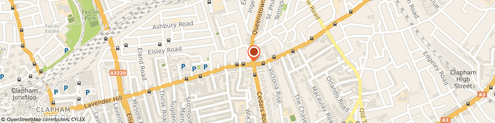 Route/map/directions to Lavender Hill Tailors, SW11 5RW London, 10 LAVENDER HILL