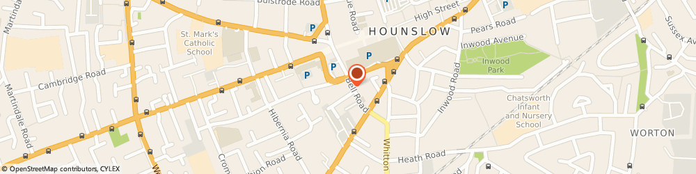 Route/map/directions to Kew Cars, TW3 3NU Hounslow, 6 Bell Parade, Bell Road