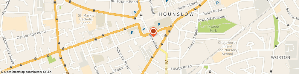 Route/map/directions to Aircall Minicab, TW3 3NU Hounslow, 6 Bell Rd