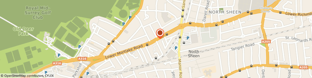 Route/map/directions to The Crown, TW9 2JZ Richmond, 128, LOWER MORTLAKE ROAD
