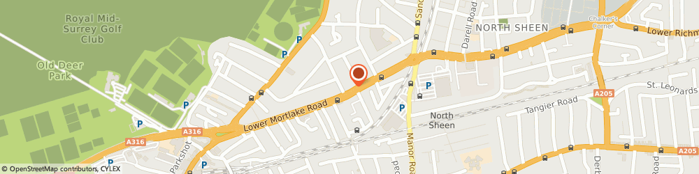 Route/map/directions to Sw14 Cars, TW9 2LN Richmond, 221 LOWER MORTLAKE ROAD