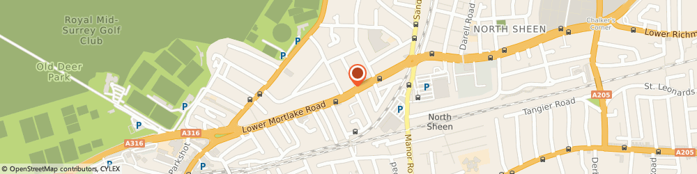 Route/map/directions to Richmond Kitchens, TW9 2LN Richmond, 223 Lower Mortlake Rd