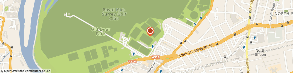 Route/map/directions to Kew Gardens Physiotherapy Clinic, TW9 2SS Richmond, RICHMOND ATHLETIC GROUND, KEW FOOT ROAD