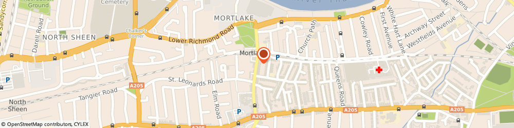 Route/map/directions to Locksmith Mortlake, SW14 8AB London, 43-47, Sheen Lane
