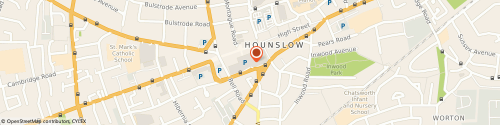 Route/map/directions to Champion Sport, TW3 1EQ Hounslow, CARE OF DEBENHAMS/27 TREATY CENTRE, HIGH STREET