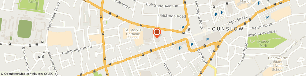 Route/map/directions to Home Bargains, TW3 3HY Hounslow, Hospital Road