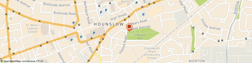 Route/map/directions to Hounslow Toy Library For Children With Disabilities, TW3 1XA Hounslow, Inwood Rd