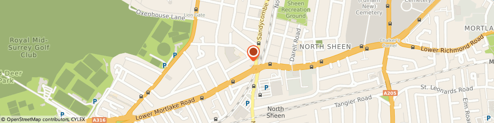 Route/map/directions to Colin Ferns Ltd Independent Mercedes Specialists of Richmond, TW9 2DU Richmond, 65 Raleigh Rd