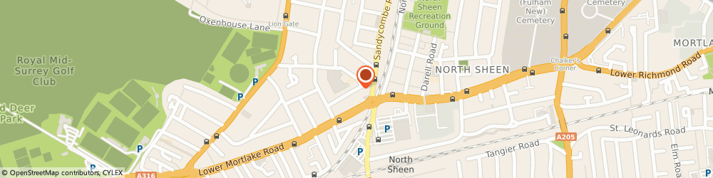 Route/map/directions to Leaf Catering Ltd, TW9 2DU Richmond, 63 Raleigh Rd