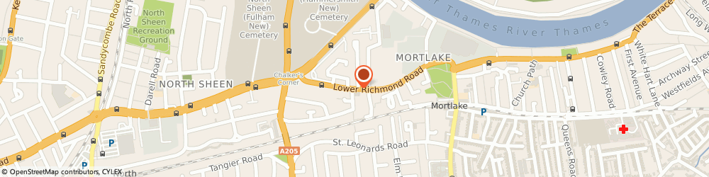 Route/map/directions to The Flower Shop, SW14 7HJ London, 73, LOWER RICHMOND ROAD