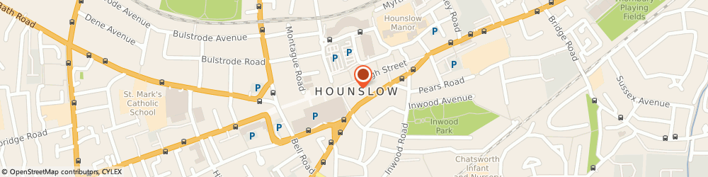 Route/map/directions to Post Office Limited, TW3 1BL Hounslow, 201 - 205 High Street