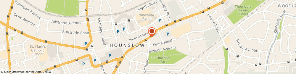 Route/map/directions to Airport Express, TW3 1QS Hounslow, 4 Gilbert Street