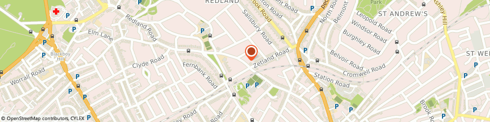 Route/map/directions to L Pollock, BS6 6RD Bristol, 89 Redland Rd