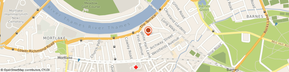 Route/map/directions to Barnes Picture Framing Company, SW13 0PX London, 25 WHITE HART LA