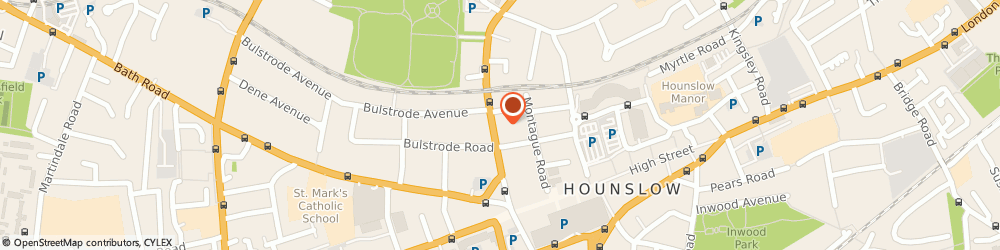 Route/map/directions to Lampton Guest House, TW3 1JG Hounslow, 47 Lampton Rd