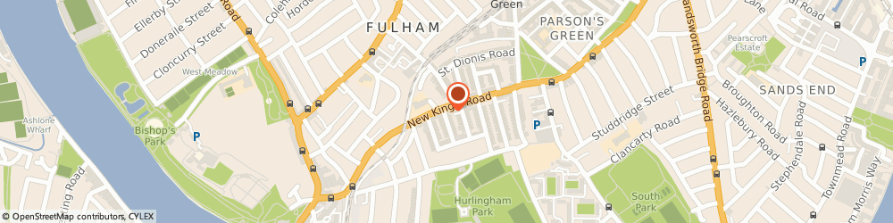 Route/map/directions to ONEBILLION CHILDREN LIMITED, SW6 4RF London, 315-317 New Kings Road