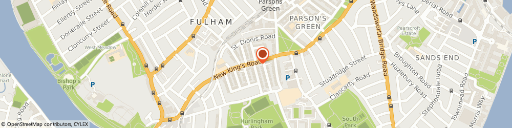 Route/map/directions to Allison Rodger Designs Limited, SW6 4RD London, 283 New Kings Road