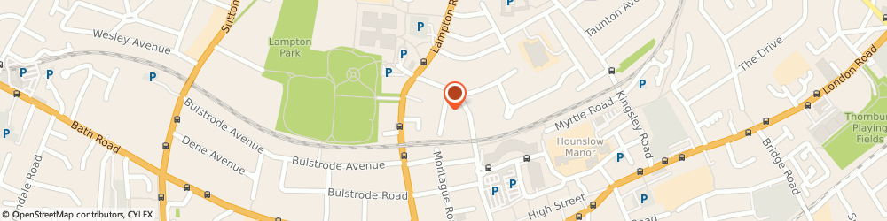 Route/map/directions to Limo Chauffeurs Ltd, TW3 4HS Hounslow, 12 Lampton Park Rd
