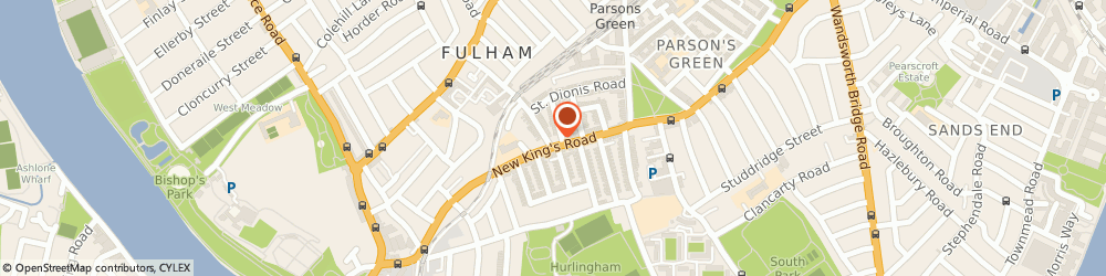 Route/map/directions to Printstore, SW6 4LX London, 100 New Kings Road