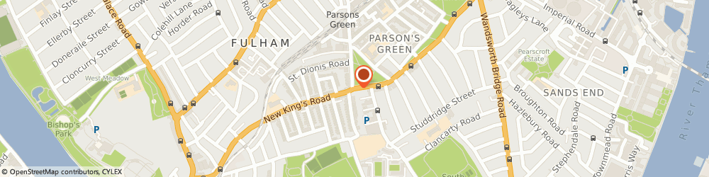 Route/map/directions to Fulham Stereo & Alarm Centre, SW6 4LZ London, 120 NEW KINGS ROAD