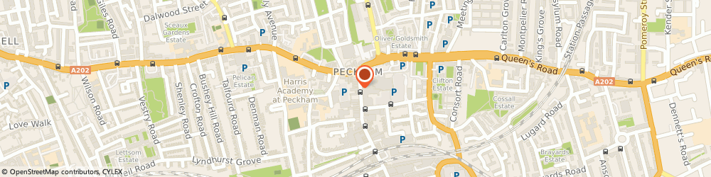 Route/map/directions to Clothing Club, SE15 5BS London, 10 Rye Ln