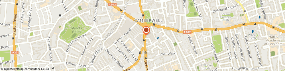 Route/map/directions to Scope - Camberwell charity shop, SE5 1JL London, 42 Denmark Hill