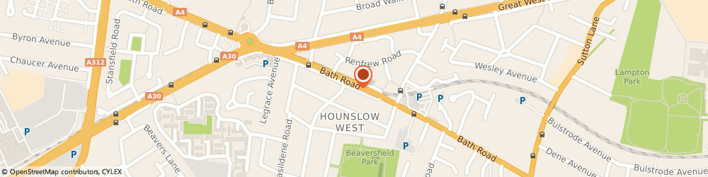 Route/map/directions to Barclays Bank PLC, TW4 7HY Hounslow, 368/372 Bath Road