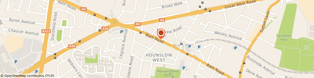 Route/map/directions to Urgent Courier Service UK, TW4 7HW Hounslow, 344A Bath Road