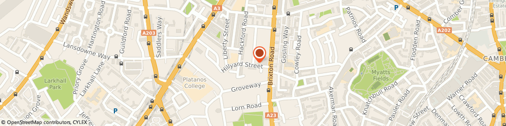 Route/map/directions to Long Mountain Catering Services, SW9 0NR London, 72 CRANWORTH GARDENS