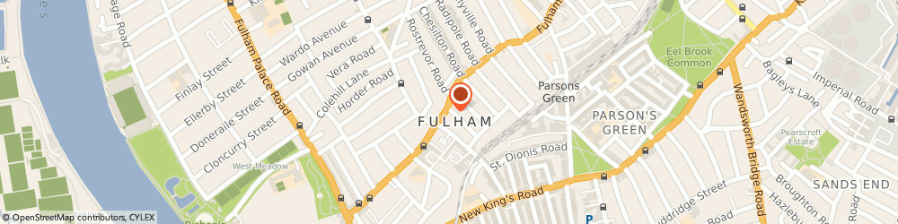 Route/map/directions to Portico, SW6 5HJ London, 843 Fulham Road