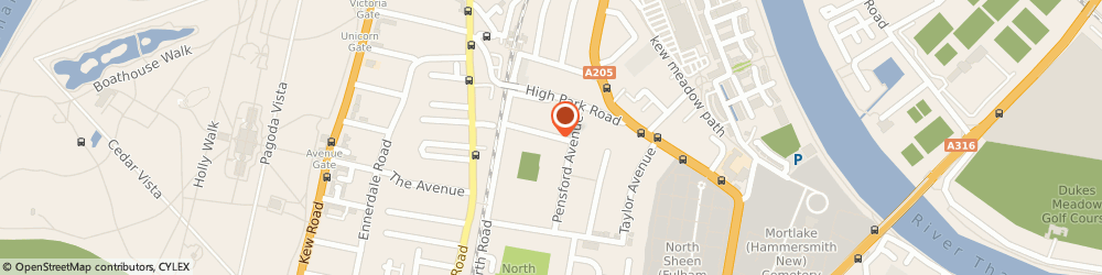Route/map/directions to Bute Video Limited, TW9 4HH Richmond, 19 NYLANDS AVENUE