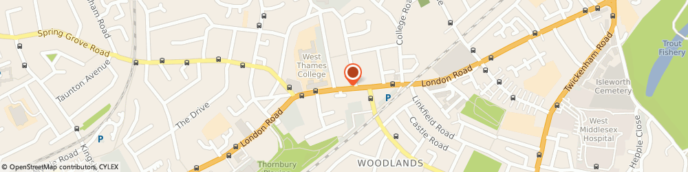 Route/map/directions to Yellow Express, TW7 4DE Isleworth, Unit 8, Odeon Parade, London Road