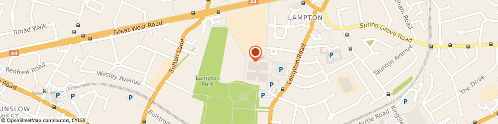 Route/map/directions to London Borough of Hounslow - Tenancy Relations, TW3 4DN Hounslow, Civic Centre, Lampton Road