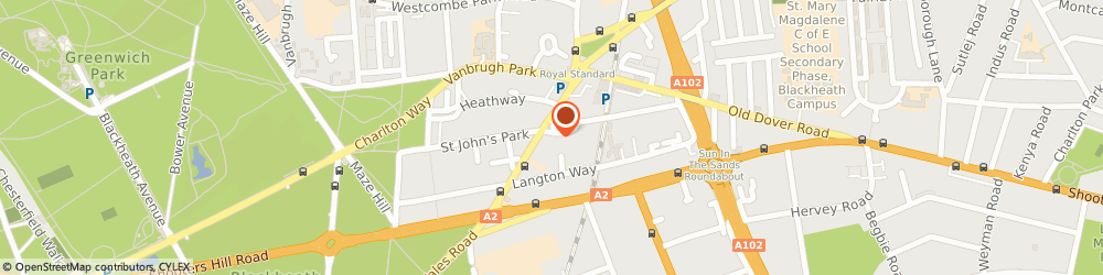 Route/map/directions to Bruce Sheppy & Associates Limited, SE3 7JH London, FLAT 1 28 ST. JOHNS PARK