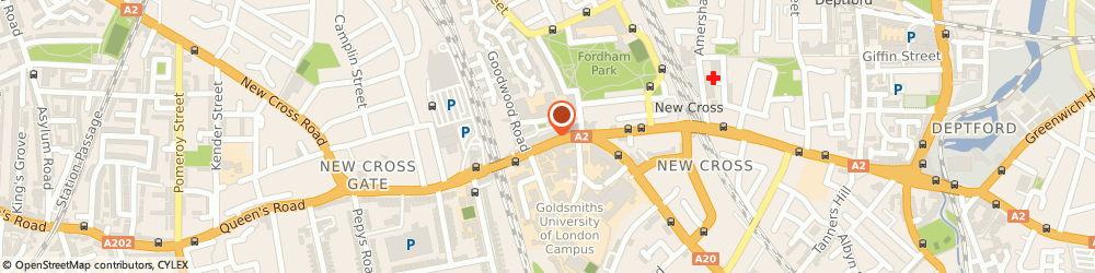 Route/map/directions to Mail Boxes Etc. New Cross, SE14 6AS London, 295 New Cross Road