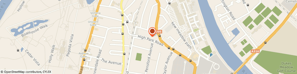 Route/map/directions to Adrian Cobb, TW9 4BH Richmond, KEW MEDICAL PRACTICE, 14 HIGH PARK ROAD