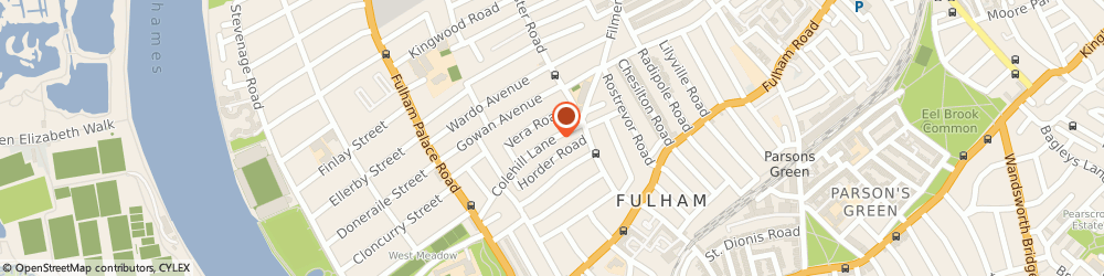 Route/map/directions to British Home Tutors, SW6 5EF London, 25 Colehill Lane